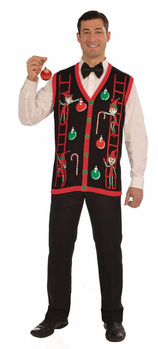 Decorating Elves Ugly Christmas Vest Adult Medium