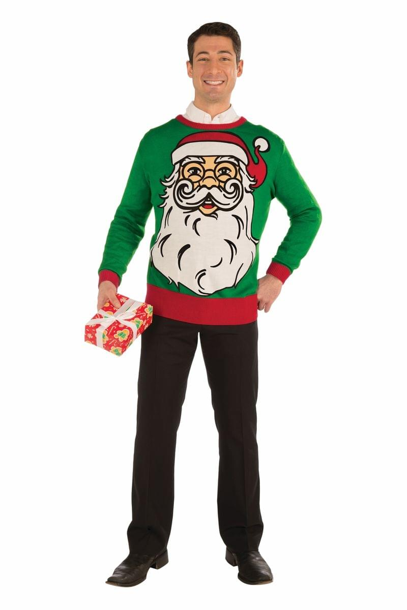 Big Santa Ugly Christmas Sweater Adult X-Large
