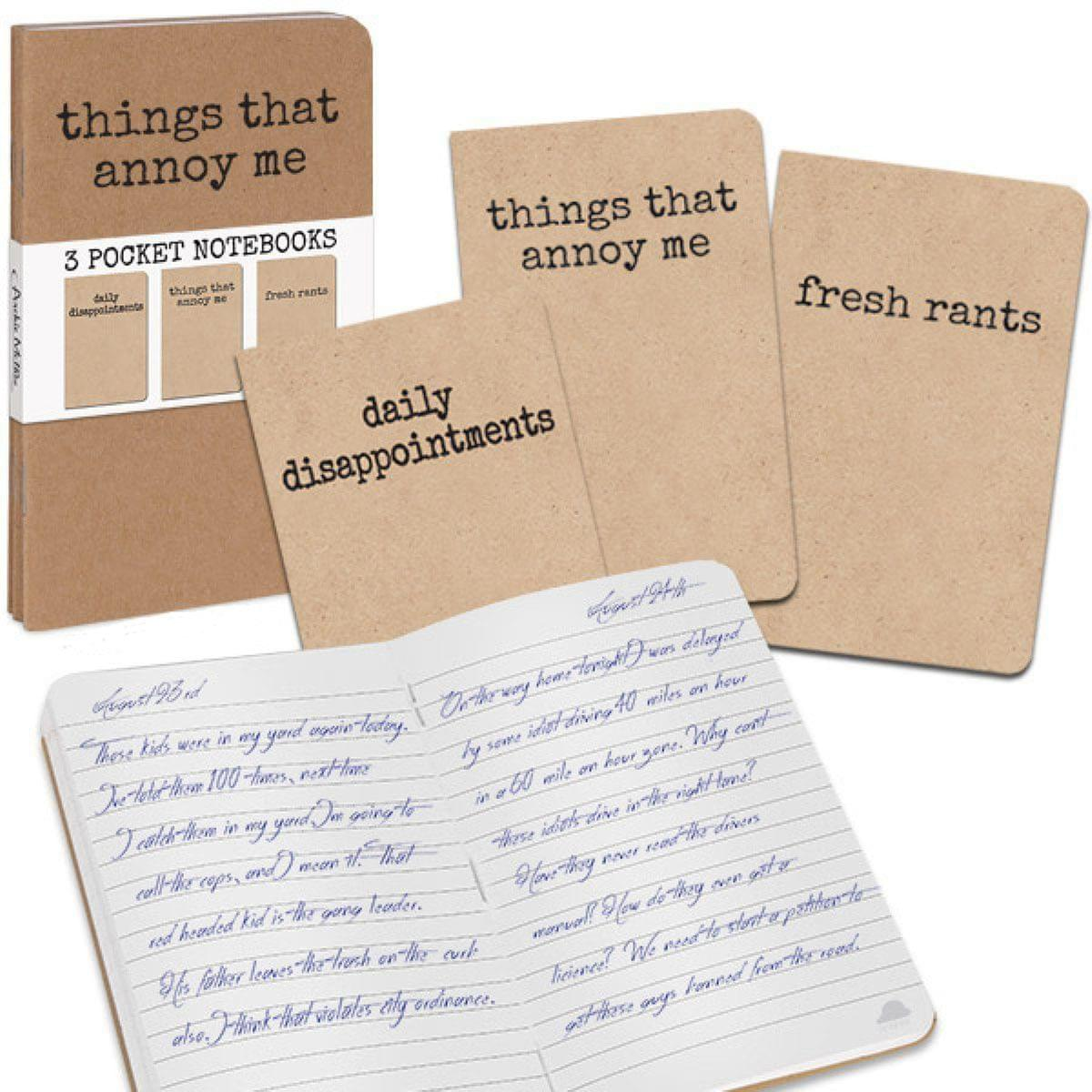 Grump, Things That Annoy Me: Set of 3 Notebooks