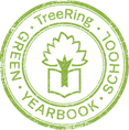 Green TreeRing School Yearbook Logo