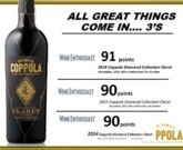 Francis Ford Coppola Diamond Collection Claret 2016 - 91 pts Wine Enthusiast