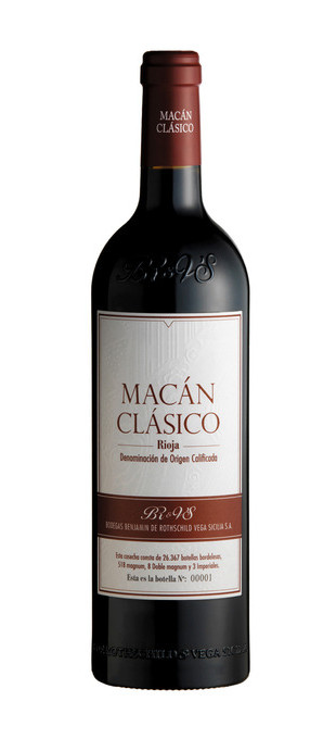 2013 MACÀN (par/by Vega Sicilia & Benjamin de Rotschild) Rioja Macan Classico