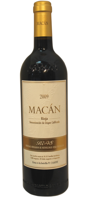2012 MACÀN (par/by Vega Sicilia & Benjamin de Rotschild) Rioja Macan