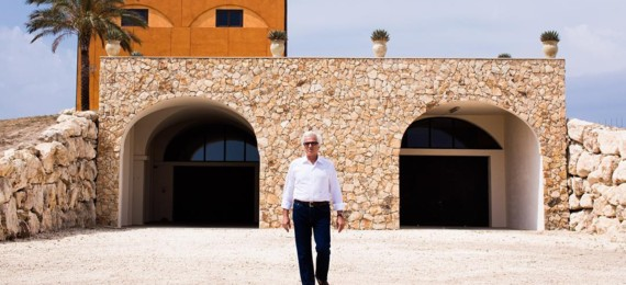 Antonio Moretti in front of winery
