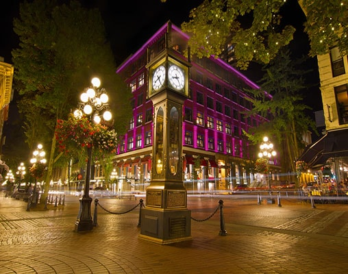 The steam-powered clock in Vancouver's historic Gastown