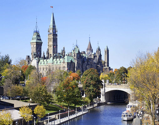 The canals in Ottawa