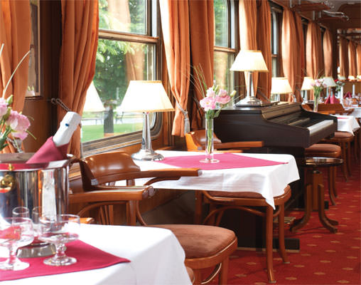 Dining in the Golden Eagle Express