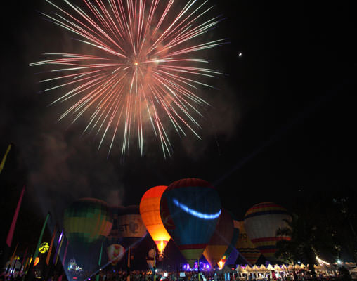 Balloon Fiesta with Fireworks