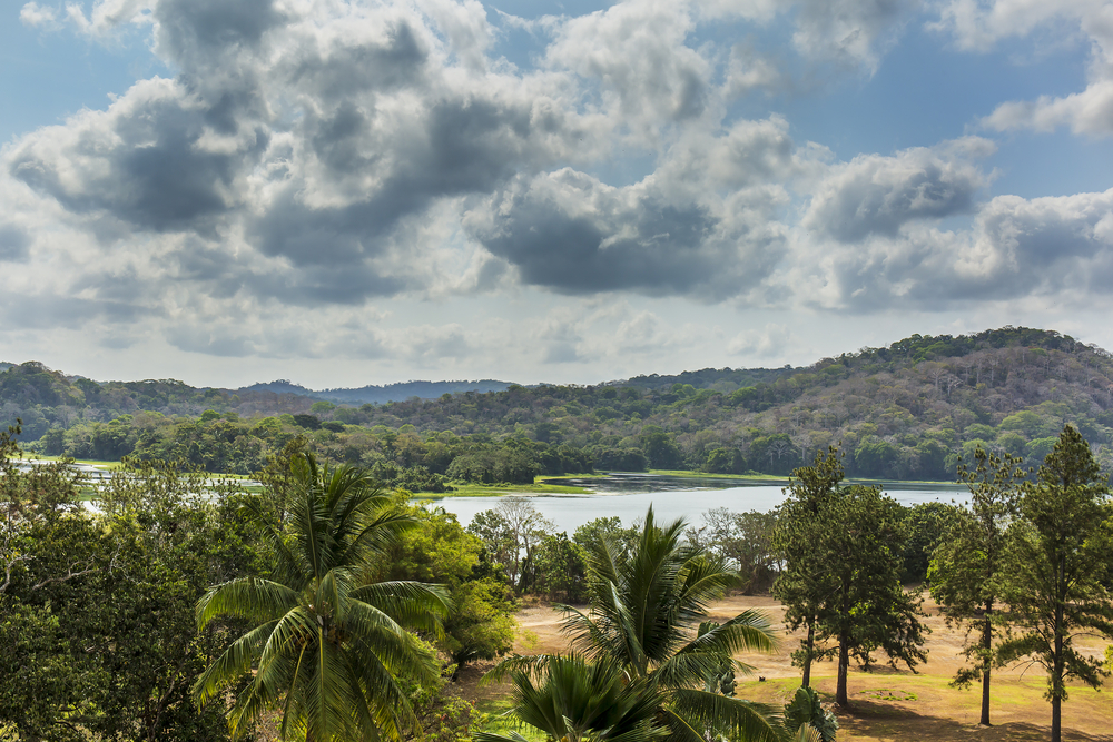 Chagres river and hills in gamboa, panama