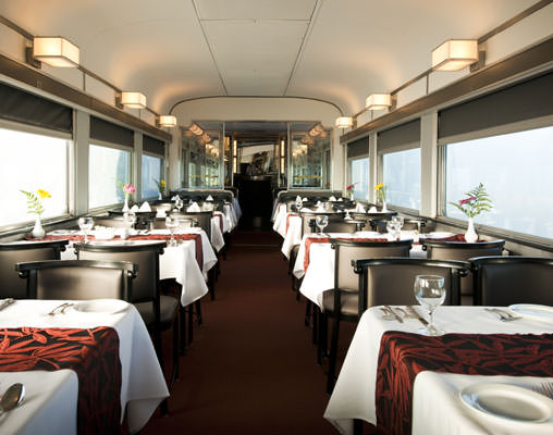 Dining Car aboard the Canadian