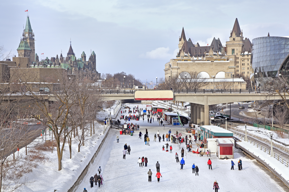 Rideau Canal ice skating