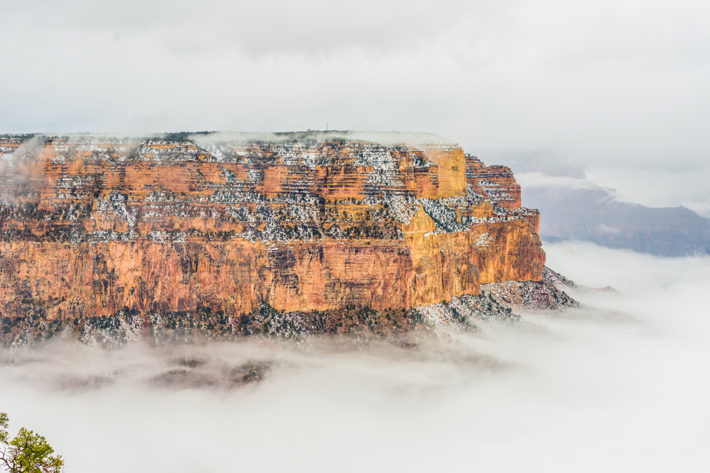 Snow storm in the Grand Canyon