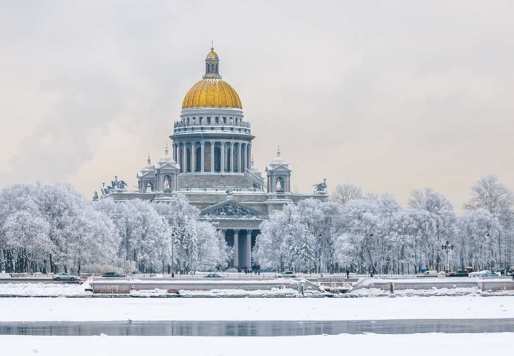 St Isaac's Cathedral  Winter