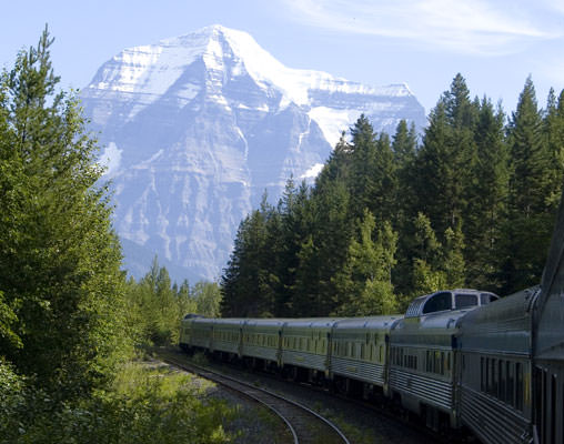 VIA Rail in the Canadian Rockies