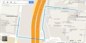 map-outside walk