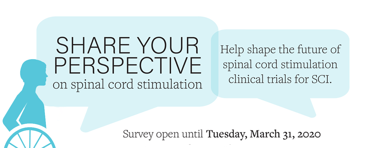 Share your perspective on spinal cord stimulation. Survey open until Tuesday, March 31st.