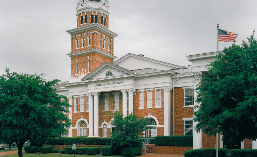 Lowndes County Courthouse (c  1847) - Columbus MS