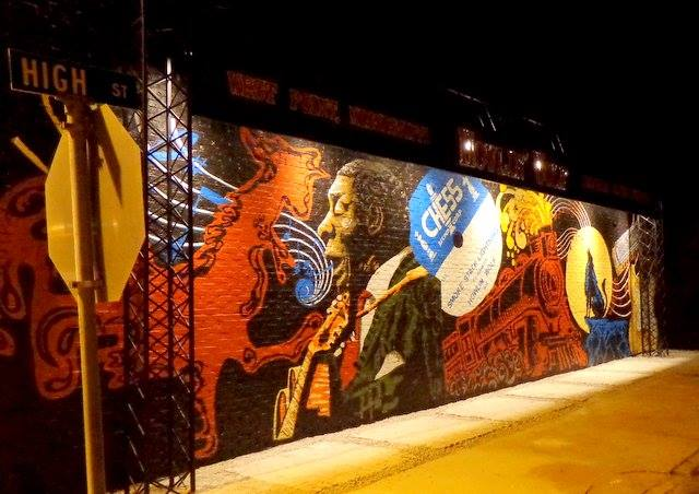West Point Ms >> Howlin Wolf Mural In West Point Ms N Columbus Ms