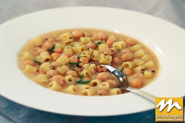 Chickpeas Soup with Pasta