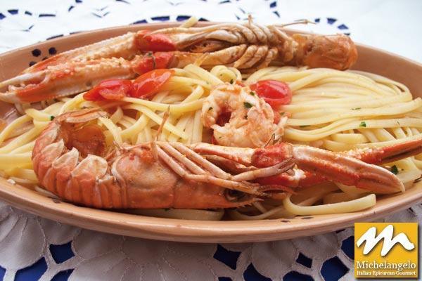 Linguini with Scampi
