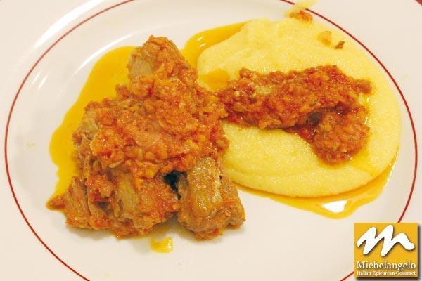 Pork Ribs with Polenta