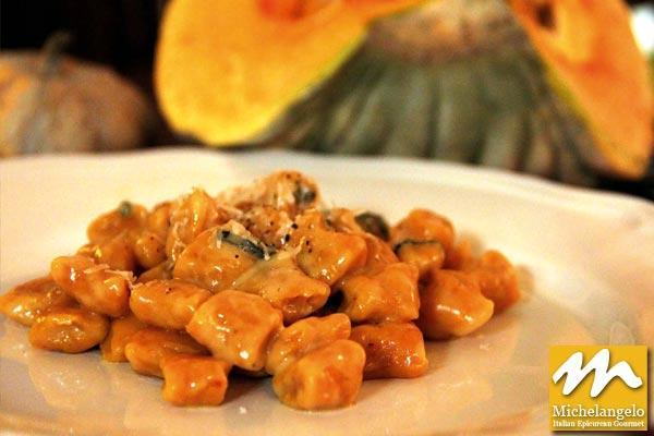 Pumpkin Gnocchi with Butter, Sage and Parmigiano Reggiano