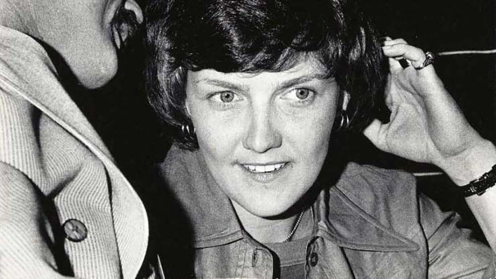 Elaine Noble (born January 22, 1944) is an American politician and LGBT activist who served in the Massachusetts House of Representatives for two terms starting in January 1975. She was the first openly lesbian or gay candidate elected to a state legislature.[1] She served two terms as representative for the Fenway-Kenmore and Back Bay neighborhoods of Boston.