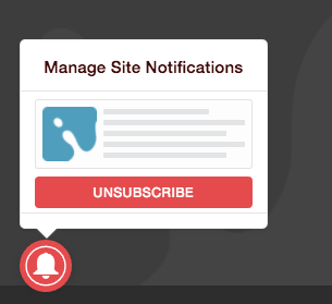 Unsubscribe Notification Bell