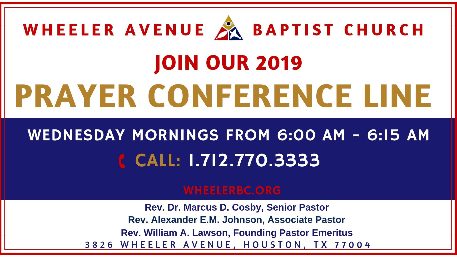 Prayer - Wheeler Ave Baptist Church