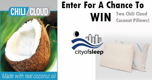 Chili Cloud Pillow Sweepstakes City Of Sleep