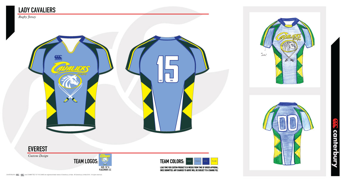 Design Your Own Jersey Competition' finalists