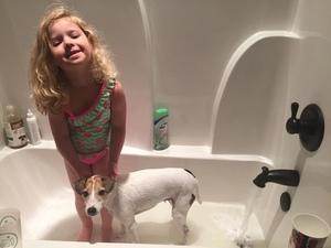 Bathe the Dog & Kid Together!
