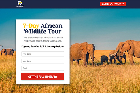 Sign up For Tour Itinerary