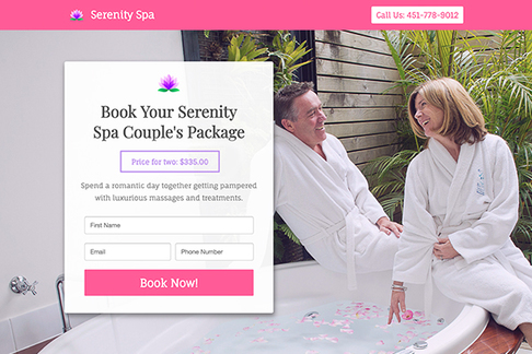 Book a Couple's Spa Package