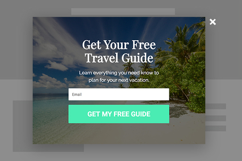 Free Travel Guide Popup