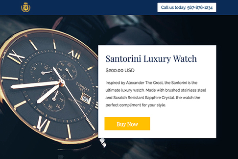 Product Sales Page