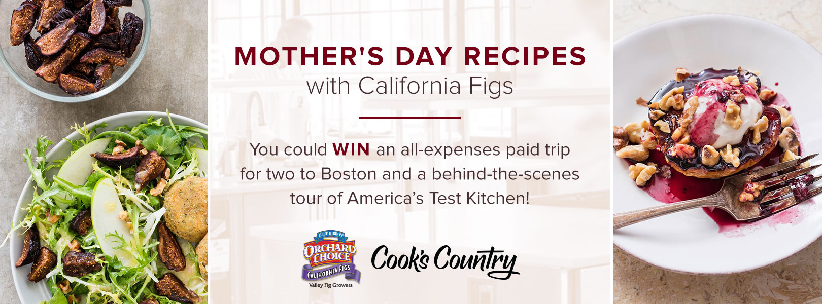 Mother S Day Recipes With California Figs Sweepstakes