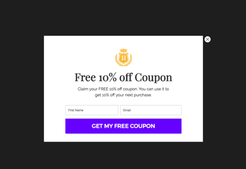 Discount Coupon Popup