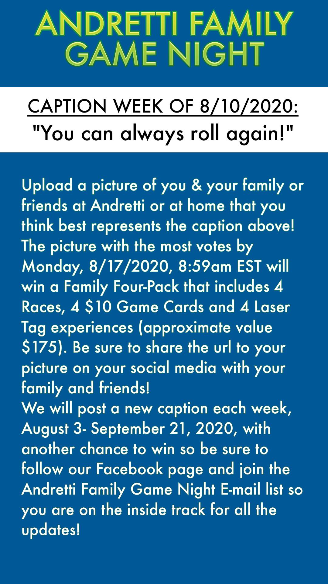 Andretti Family Game Night Orlando 8 10 2020