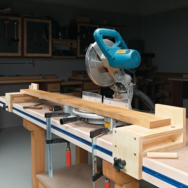 Versatile Miter Saw Workstation | Woodsmith Tips