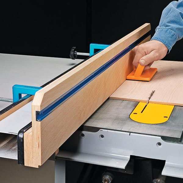 Handy table saw add on woodsmith tips Table saw fence