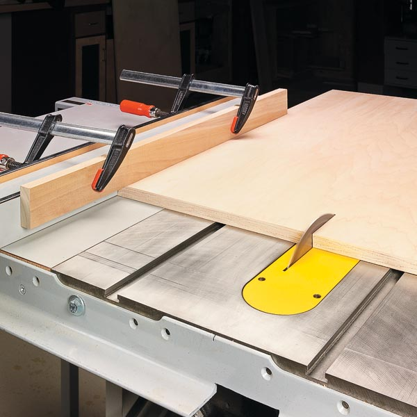 Top Notch Cuts In Plywood Woodsmith Tips
