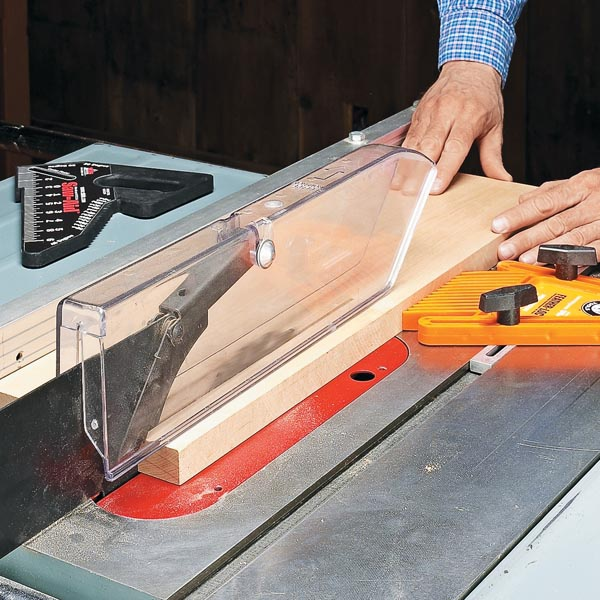 Accurate Safe Table Saw Cuts Woodsmith Tips