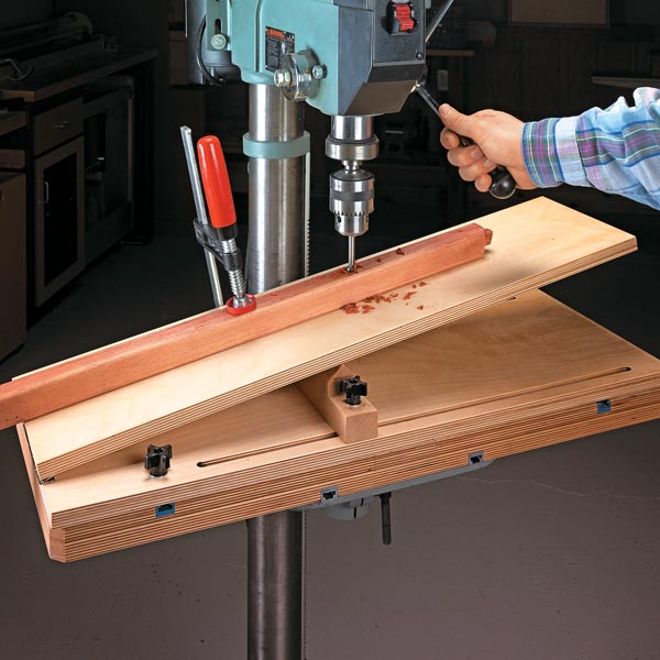 Handy Drill Press Jig Woodsmith Tips