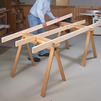 Knock Down Shop Table Woodsmith Tips