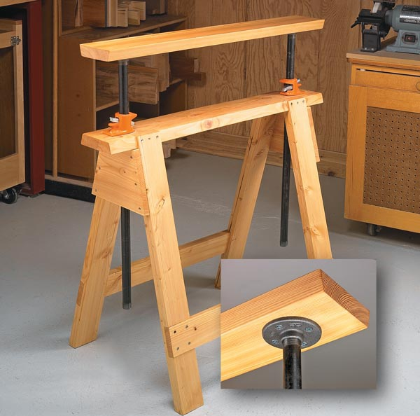 Adjustable Sawhorses Woodsmith Tips