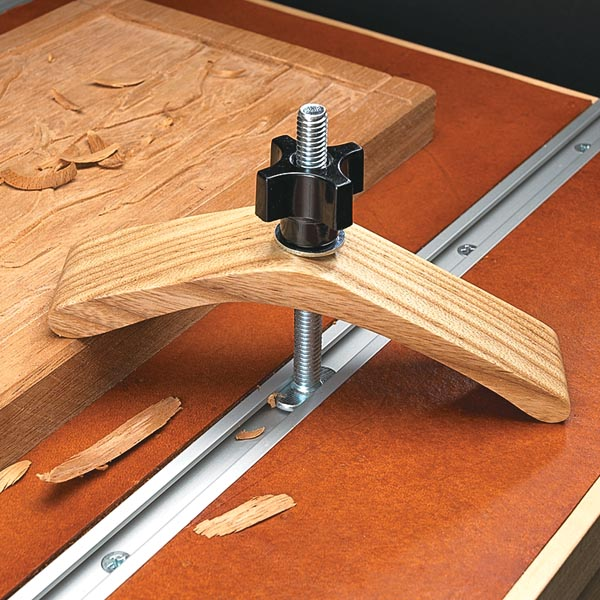 Multipurpose hold down woodsmith tips for Wood router ideas