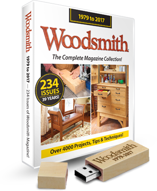 Woodsmith Back Issue Library USB Drive