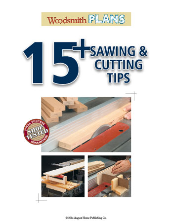 Learn how to get your next project off on the right foot... With these tips you'll find working at your table saw safer and more convenient.