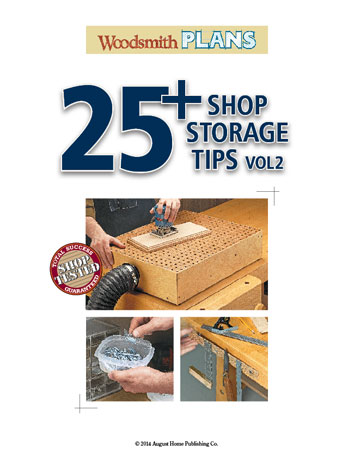 A clean, organized workshop is more enjoyable place to work and these 25+ shop storage tips can help get you there.